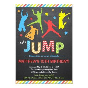 Jump Invitation / Trampoline Birthday Invitation