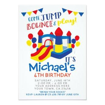 Jump Invitation, Trampoline Birthday Party Invitation