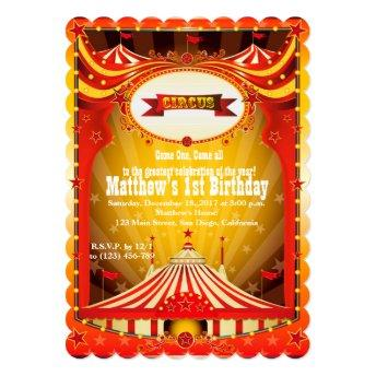 Kids Birthdy Party | Circus Carnival Invitation