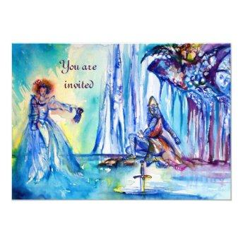 KING ARTHUR ,LADY OF THE LAKE AND EXCALIBUR linen