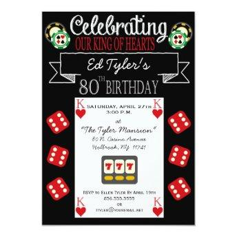 King of Hearts 80th  Party