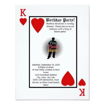 King of Hearts Guys Birthday Party