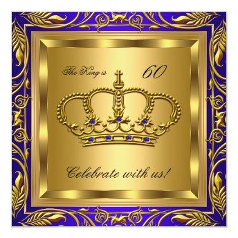 King or Queen Royal Blue Gold Birthday Party