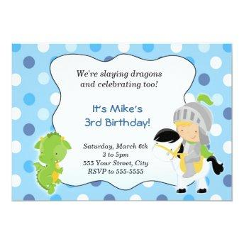 Knight Dragon  Boy Birthday Party Blue