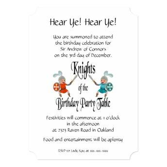 Knights of the Birthday Party Table