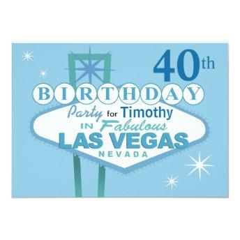 Las Vegas 40th Birthday Party - blue