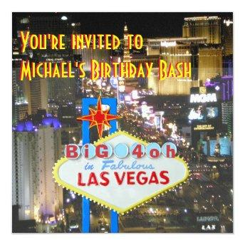 Las Vegas 40th Birthday Party personalized sign