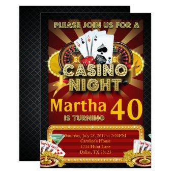Las Vegas Casino Night Birthday Party