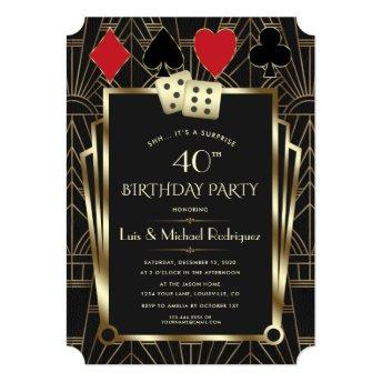 Las Vegas Casino Royale Great Birthday Invitation