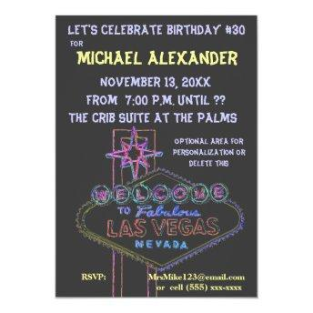 Las Vegas Neon Sign Birthday Bash