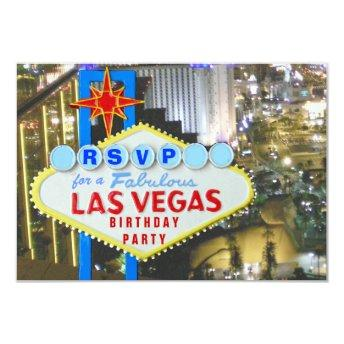Las Vegas Party RSVP 21st Birthday