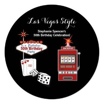 Las Vegas Style Black 50th Birthday