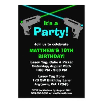 Laser Tag Blue Green Birthday Party