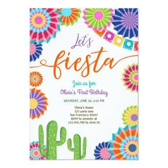 Let's Fiesta  Mexican Birthday Cactus