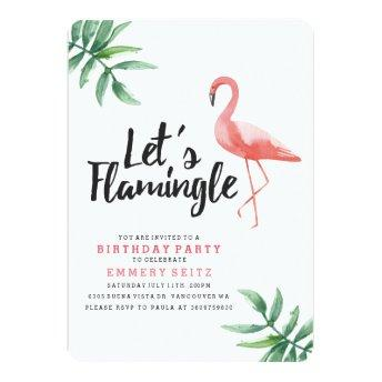 Let's Flamingle Birthday Party