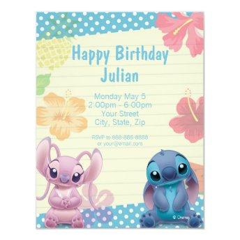 Lilo & Stitch Birthday Invitation