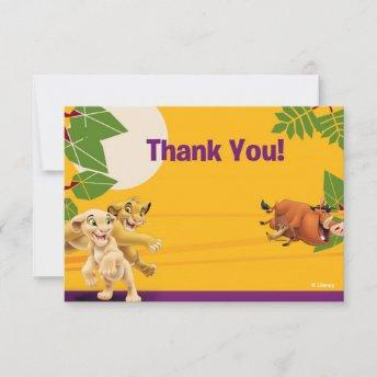 Lion King Thank You Invitation