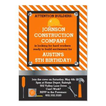 Little Builder Construction & Tools Birthday Party