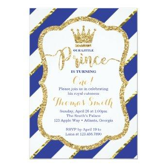 Little Prince Birthday  in Blue & Gold