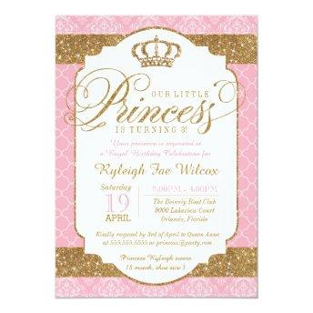 Little Princess Royal Pink and Gold Birthday
