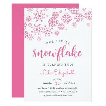Little Snowflake Birthday Party Invitation