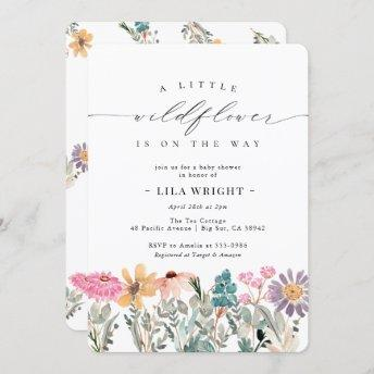 Little Wildflower Flower Baby Shower Invitation