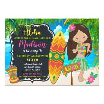 Luau Birthday Invitation Aloha Invites