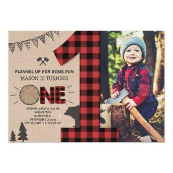 Lumberjack Birthday Invitation Woodland Birthday