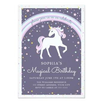 Magical Unicorn Birthday Invite