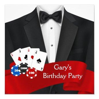 Mans Poker Birthday Party