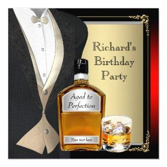 Mans Whiskey Birthday Party
