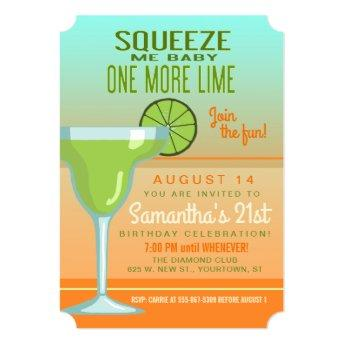 Margarita | Squeeze Me Baby One More Lime Invitation