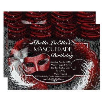 Masquerade Birthday Event Party Invitation