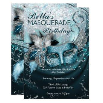Masquerade Birthday Party Invitation