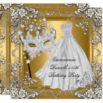 Masquerade Quinceanera 15th Birthday Mask Gold