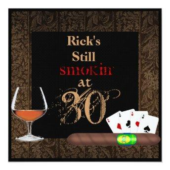 MENS 30th Birthday Cigars,Poker BRANDY