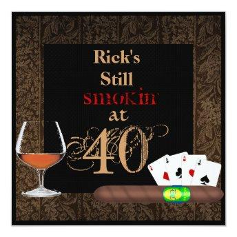 MENS 40th Birthday Cigars,Poker BRANDY