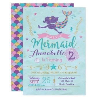 Mermaid Birthday Party  Purple Pink Gold