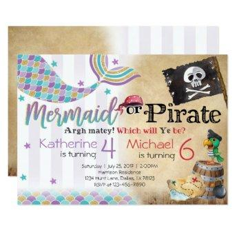 Mermaid Pirate Birthday Party  Siblings