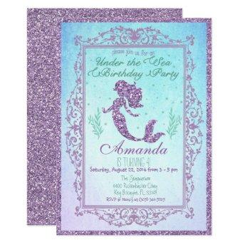 Mermaid Pool Party Under the Sea Birthday Invitation