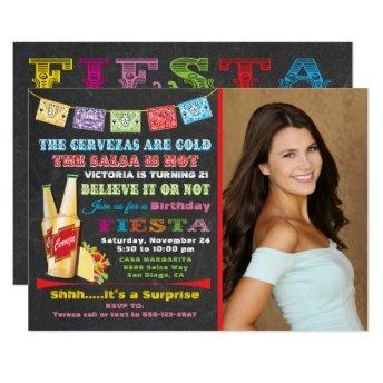 Mexican Fiesta Birthday Party Invitation