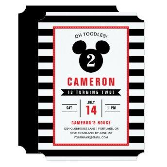 Mickey Mouse | Icon Black & White Striped Birthday