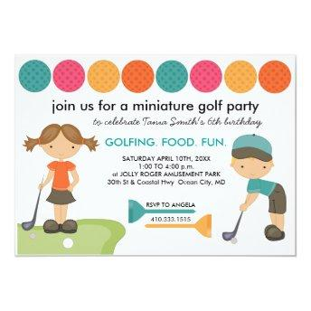 Miniature Golf Birthday Party  for Kids