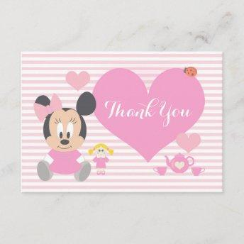 Minnie Mouse | First Birthday Thank You