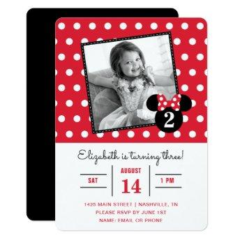 Minnie Mouse | Red & White Dots Photo Birthday