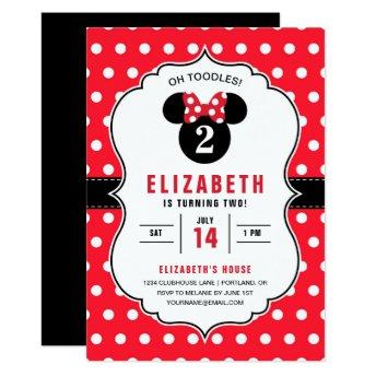 Minnie Mouse | Red & White Polka Dot Birthday