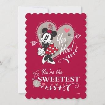 Minnie Mouse You're the Sweetest Valentine Holiday Invitation
