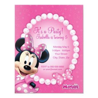 Minnie Pink and White Birthday