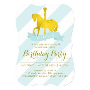 Mint Carousel Horse Birthday Party