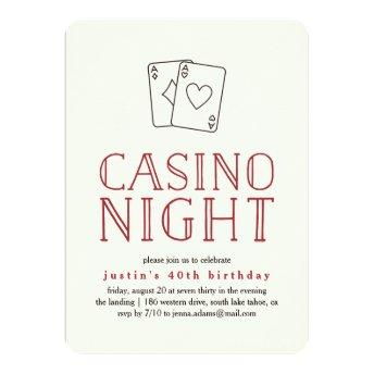 Modern Casino Night Party
